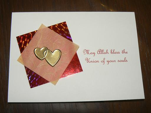Kitaabun classical and contemporary muslim and islamic books may allah bless the union of your souls hand made wedding card m4hsunfo