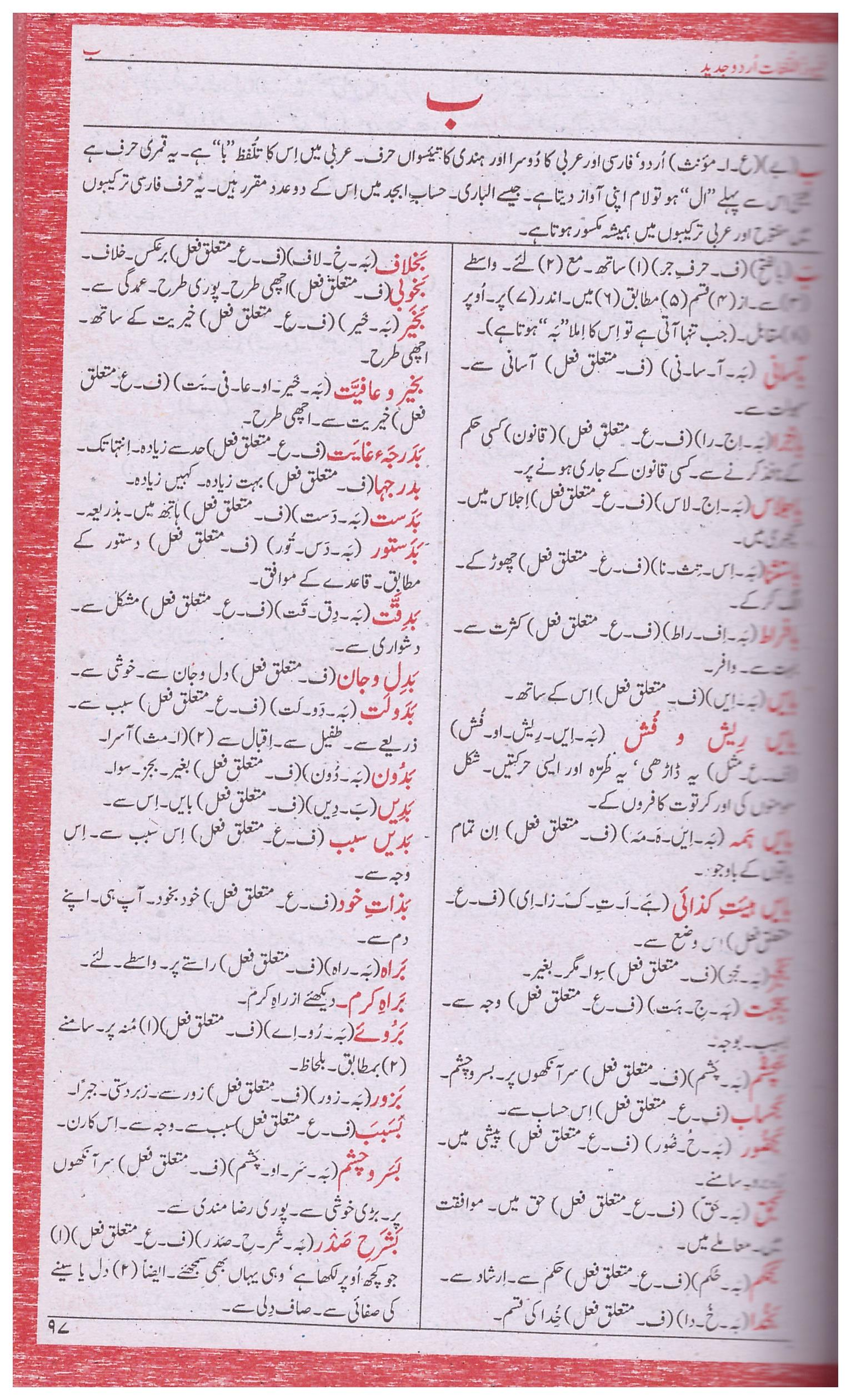 Urdu Lughat Dictionary Pdf