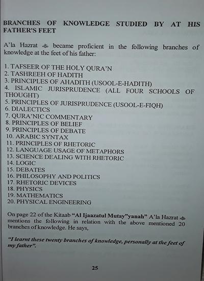 Imam Ahmed Raza: His Academic & Spiritual services