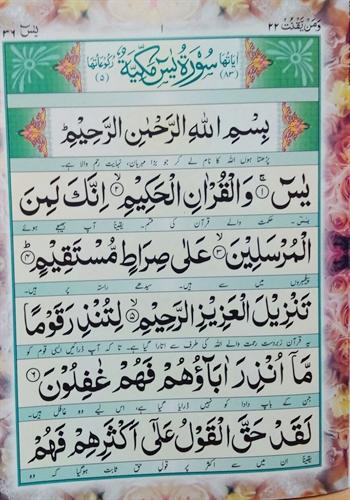Yaseen Arabic Urdu A4 Beautiful Clear Large Text
